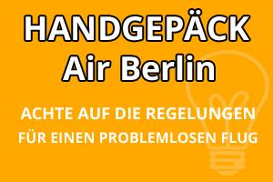 Handgepäck Bestimmungen Air Berlin
