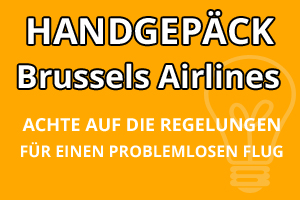 Handgepäck Regelungen Brussels Airlines
