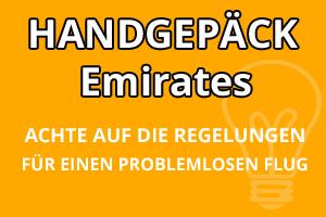 Handgepäck Regelungen Emirates