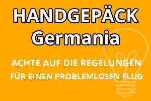 Handgepäck Bestimmungen Germania