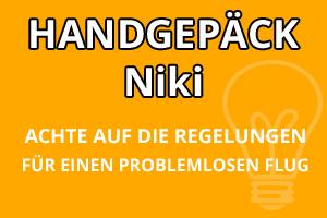 Handgepäck Regelungen Niki