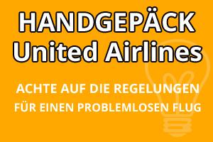 Handgepäck Bestimmungen United Airlines
