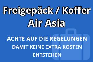 Freigepäck Koffer Air Asia