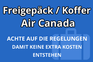 Freigepäck Koffer Air Canada