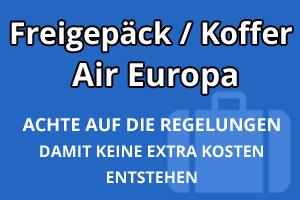 Freigepäck Koffer Air Europa