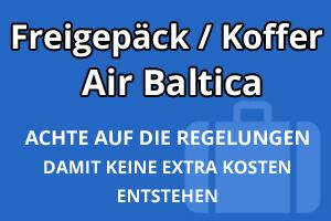 Freigepäck Koffer Air Baltica