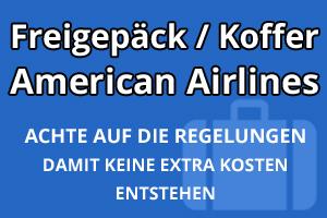 Freigepäck Koffer American Airlines