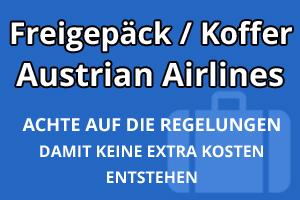 Freigepäck Koffer Austrian Airlines