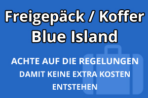 Freigepäck Koffer Blue Islands