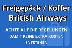 Freigepäck Koffer British Airways