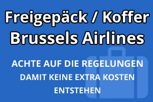 Freigepäck Koffer Brussels Airlines