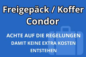 Freigepäck Koffer Condor