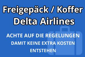 Freigepäck Koffer Delta Airlines