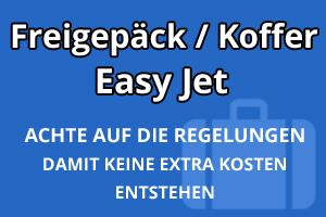 Freigepäck Koffer Easy Jet