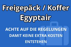Freigepäck Koffer Egyptair