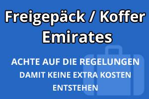 Freigepäck Koffer Emirates