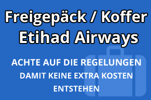 Freigepäck Koffer Etihad Airways