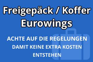 Freigepäck Koffer Eurowings