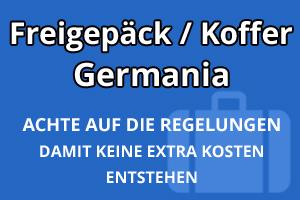 Freigepäck Koffer Germania