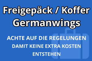 Freigepäck Koffer Germanwings