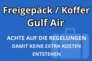 Freigepäck Koffer Gulf Air