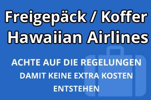 Freigepäck Koffer Hawaiian Airlines