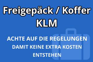 Freigepäck Koffer KLM