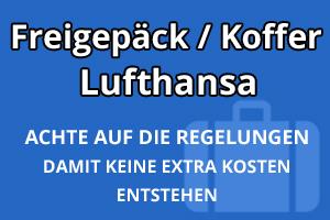 Freigepäck Koffer Lufthansa