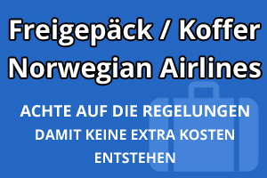 Freigepäck Koffer Norwegian Air