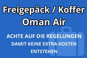Freigepäck Koffer Oman Air