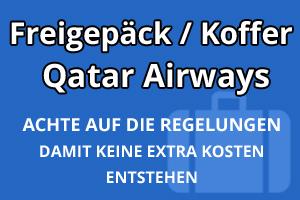 Freigepäck Koffer Qatar Airways