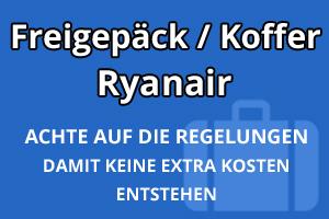 Freigepäck Koffer Ryanair