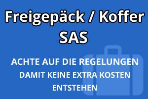 Freigepäck Koffer SAS