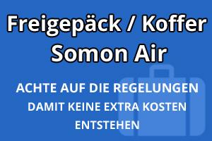 Freigepäck Koffer Somon Air