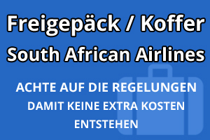 Freigepäck Koffer South African Airlines