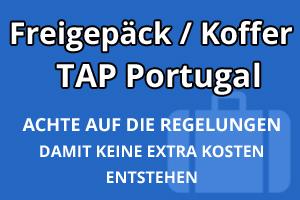 Freigepäck Koffer TAP Portugal