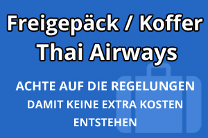 Freigepäck Koffer Thai Airways