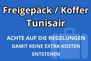 Freigepäck Koffer Tunisair