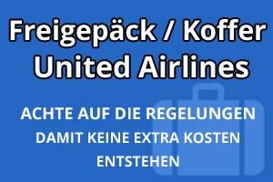 Freigepäck Koffer United Airlines