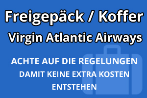 Freigepäck Koffer Virgin Atlantic Airways