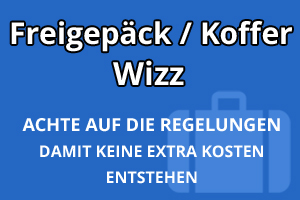 Freigepäck Koffer Wizz