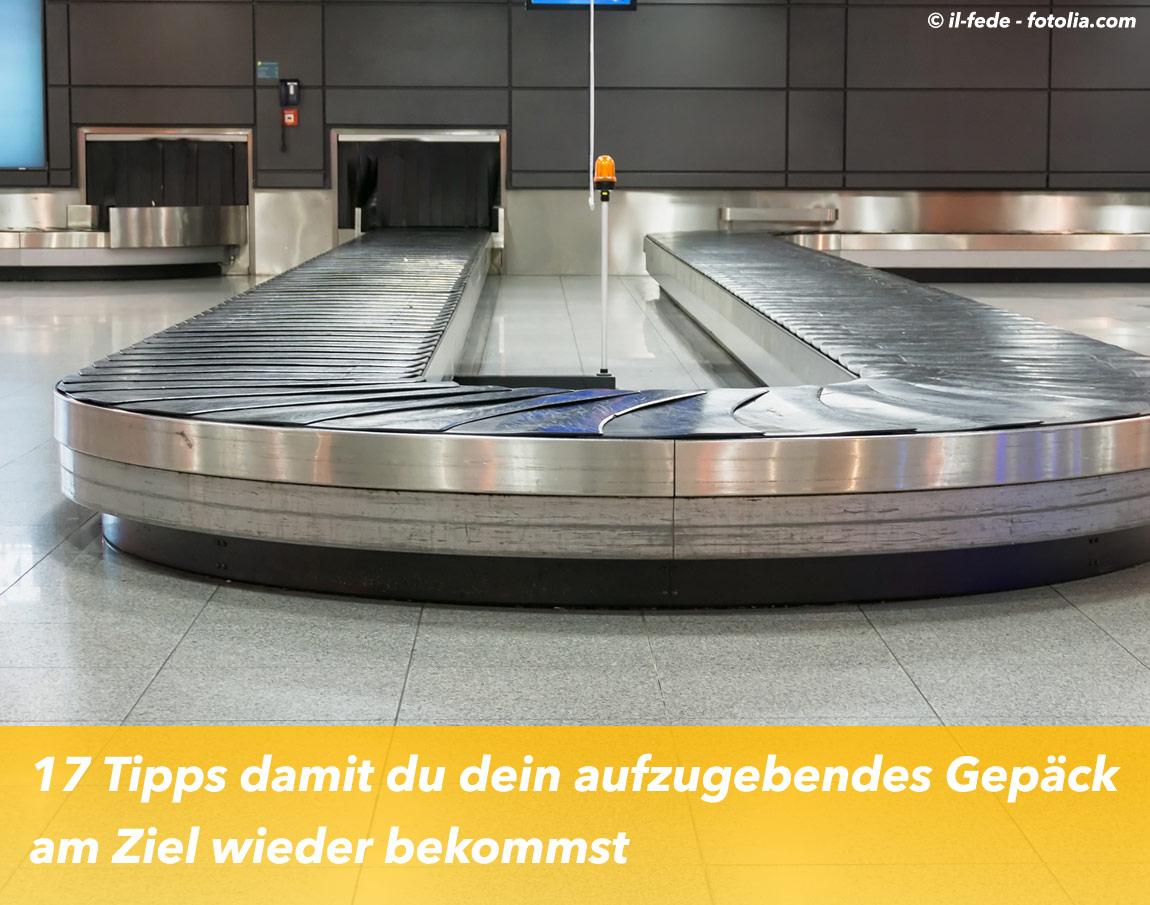 So verlierst du deinen Koffer nicht!