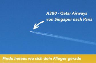 Finde heraus wo sich dein Flieger gerade befindet !